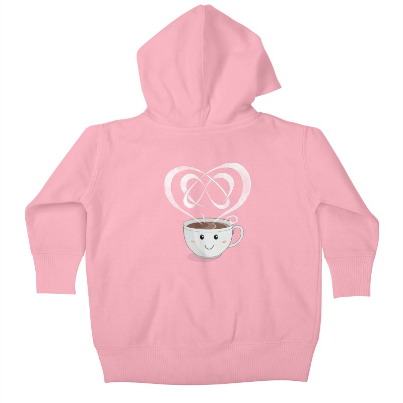 Coffee Lover Kids Baby Zip-Up Hoody by Cumulo 7