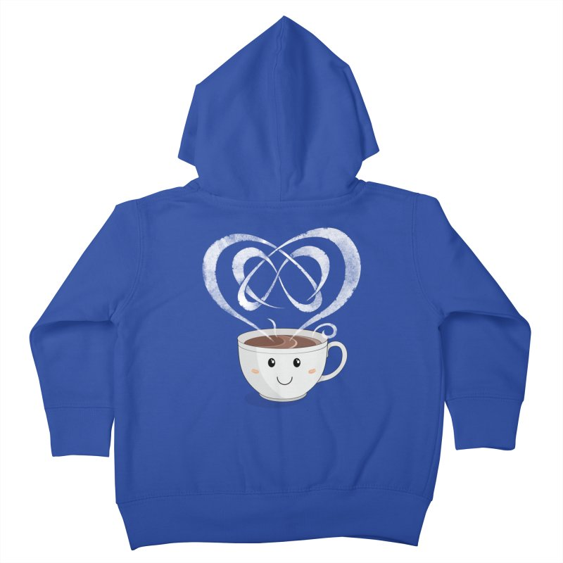 Coffee Lover Kids Toddler Zip-Up Hoody by cumulo7's Artist Shop