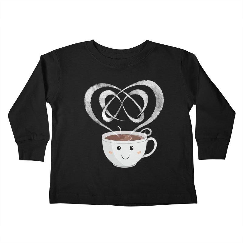 Coffee Lover Kids Toddler Longsleeve T-Shirt by cumulo7's Artist Shop