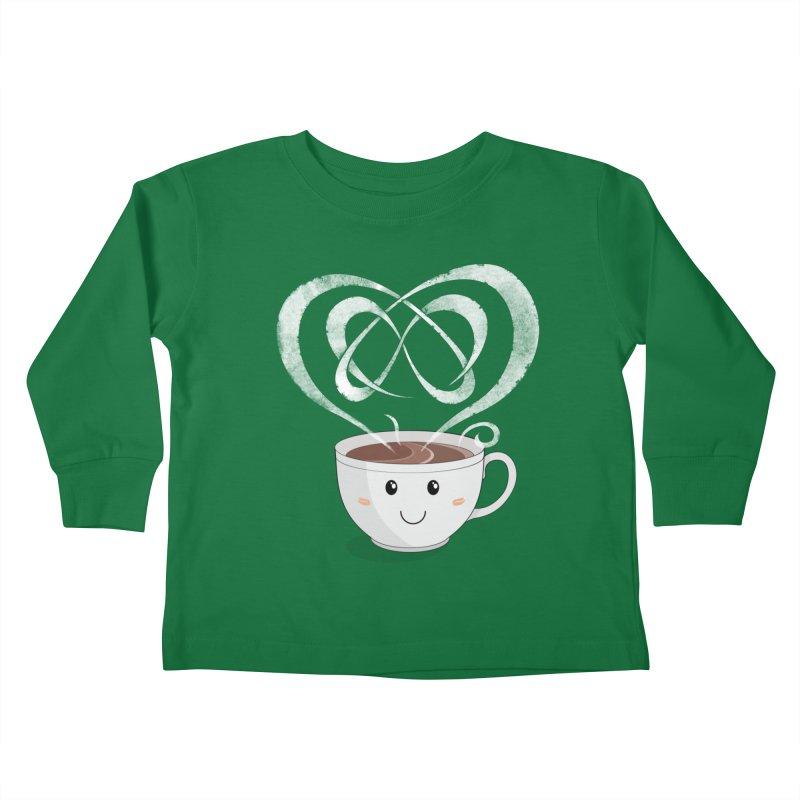 Coffee Lover Kids Toddler Longsleeve T-Shirt by Cumulo 7