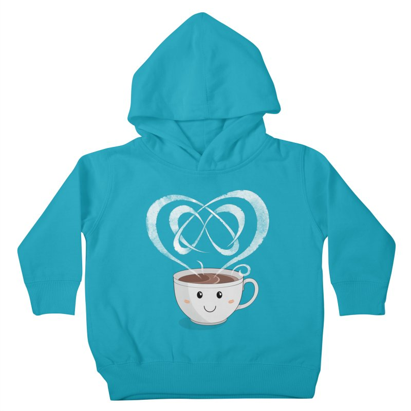 Coffee Lover Kids Toddler Pullover Hoody by cumulo7's Artist Shop