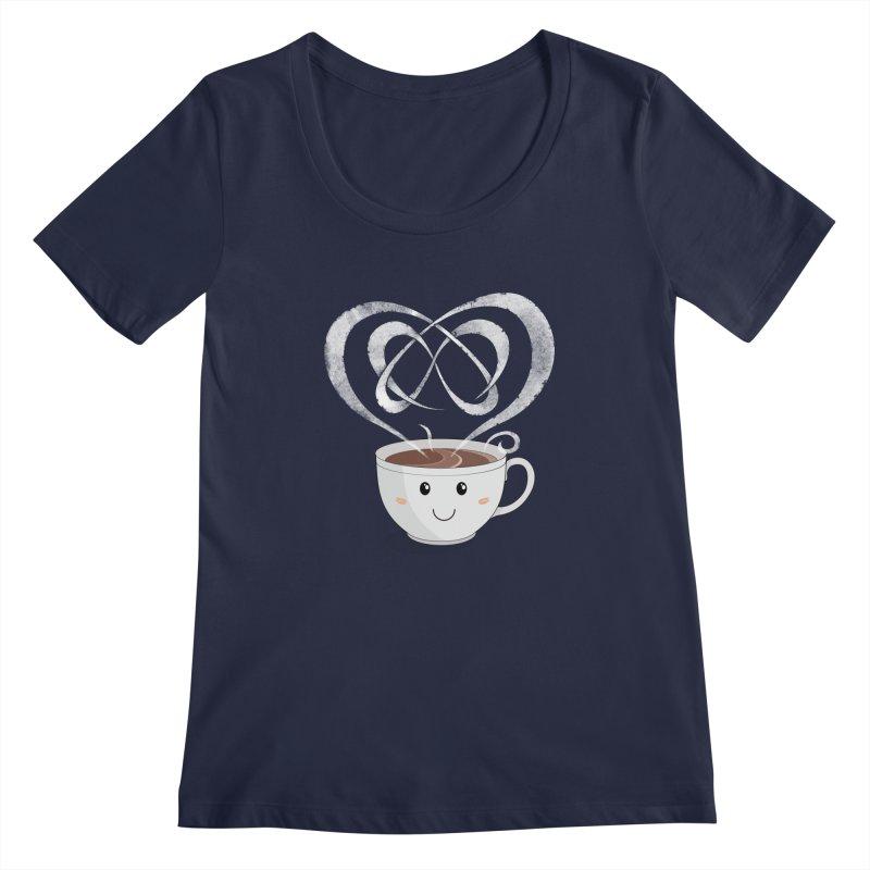Coffee Lover Women's Scoopneck by cumulo7's Artist Shop