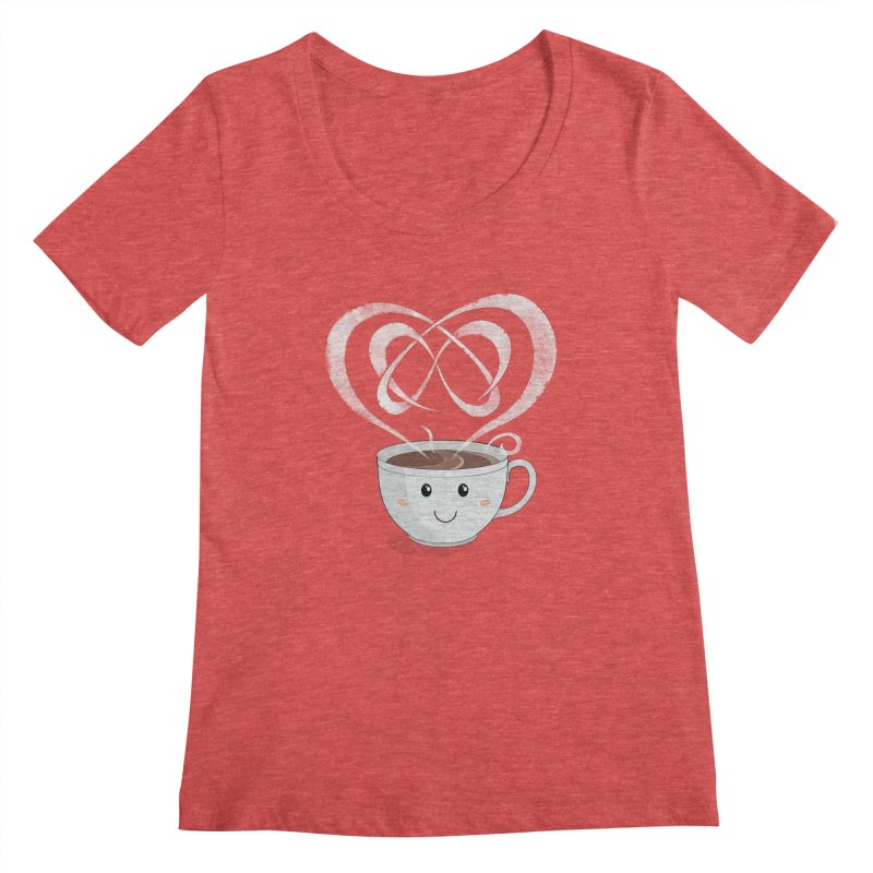 Coffee Lover Women's Regular Scoop Neck by cumulo7's Artist Shop
