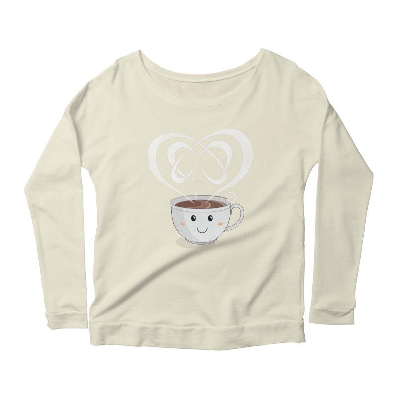 Coffee Lover Women's Scoop Neck Longsleeve T-Shirt by Cumulo 7
