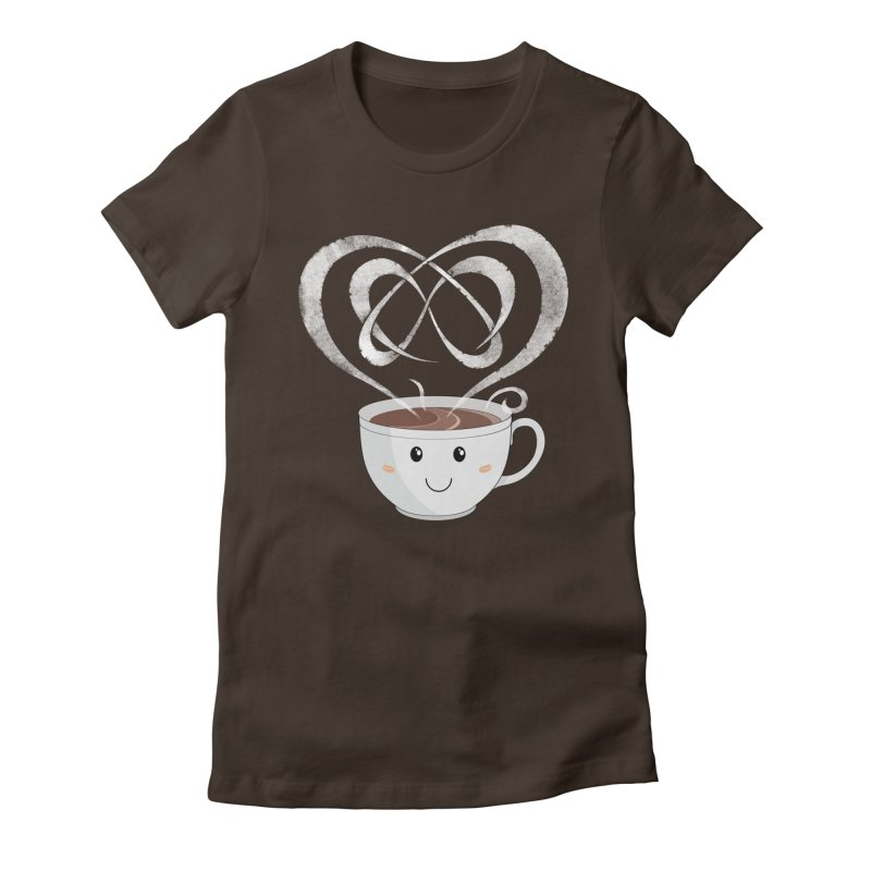 Coffee Lover Women's Fitted T-Shirt by cumulo7's Artist Shop
