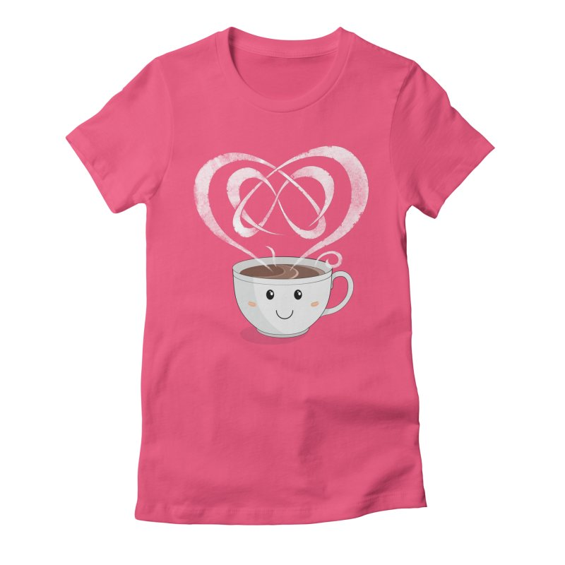 Coffee Lover Women's Fitted T-Shirt by Cumulo 7
