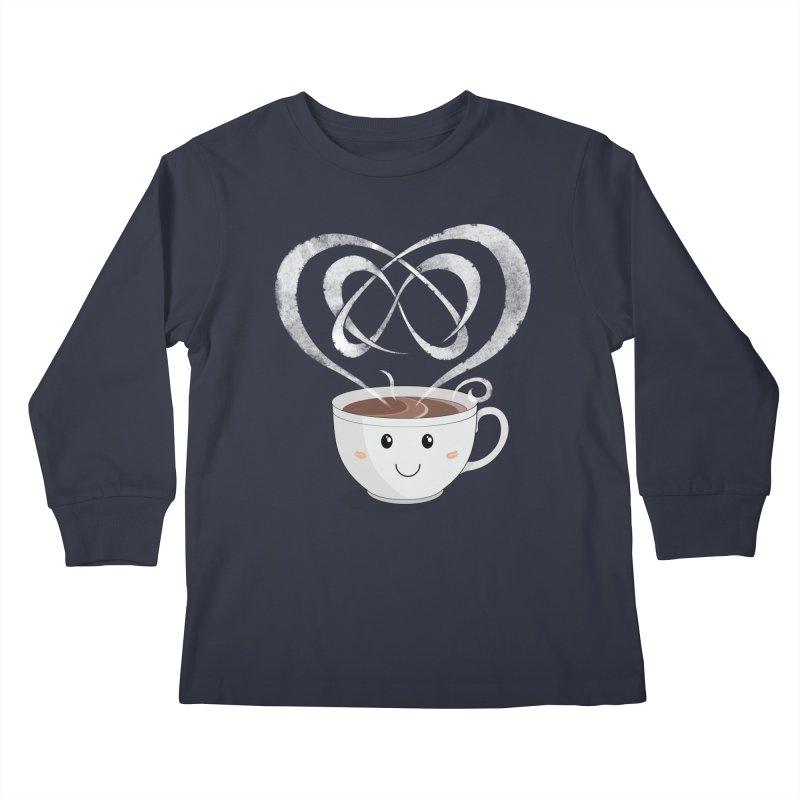 Coffee Lover Kids Longsleeve T-Shirt by Cumulo 7
