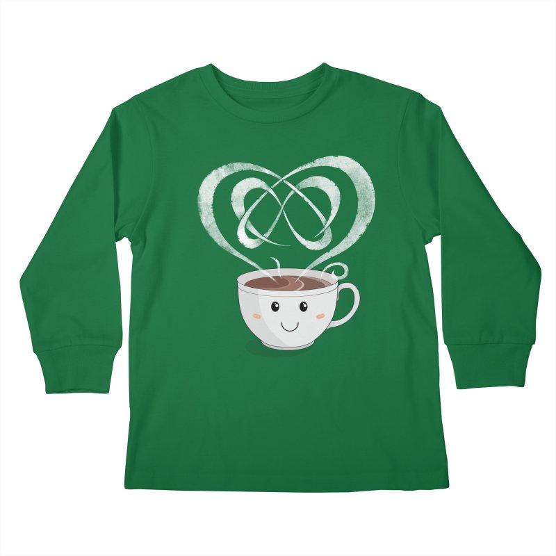 Coffee Lover Kids Longsleeve T-Shirt by cumulo7's Artist Shop