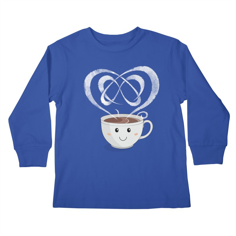 Coffee Lover Kids Longsleeve T-Shirt by cumulo7's Artist Shop