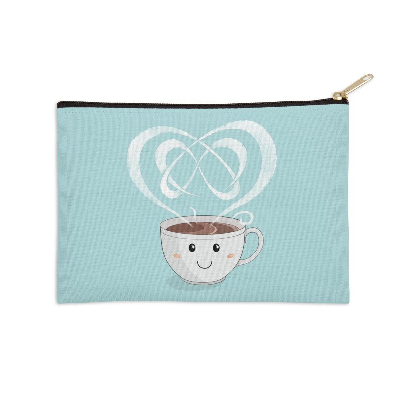 Coffee Lover Accessories Zip Pouch by cumulo7's Artist Shop
