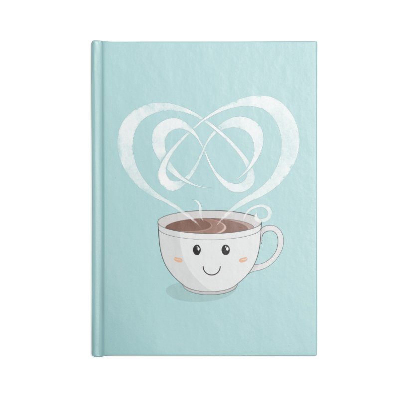 Coffee Lover Accessories Blank Journal Notebook by Cumulo 7