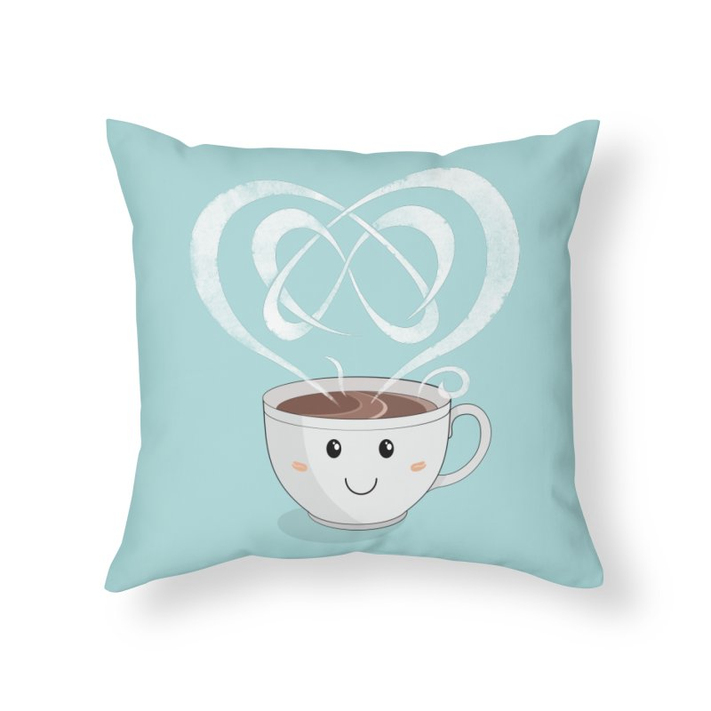 Coffee Lover Home Throw Pillow by cumulo7's Artist Shop