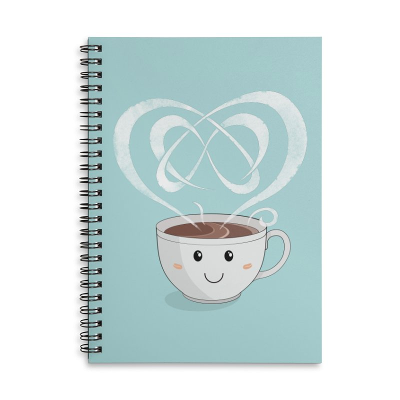 Coffee Lover Accessories Lined Spiral Notebook by Cumulo 7