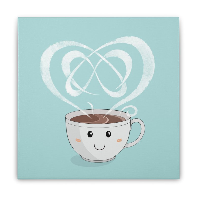 Coffee Lover Home Stretched Canvas by cumulo7's Artist Shop