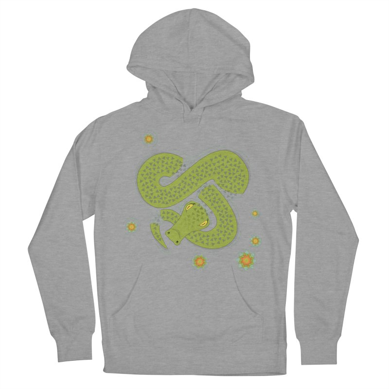 The Croc! Women's French Terry Pullover Hoody by cumulo7's Artist Shop