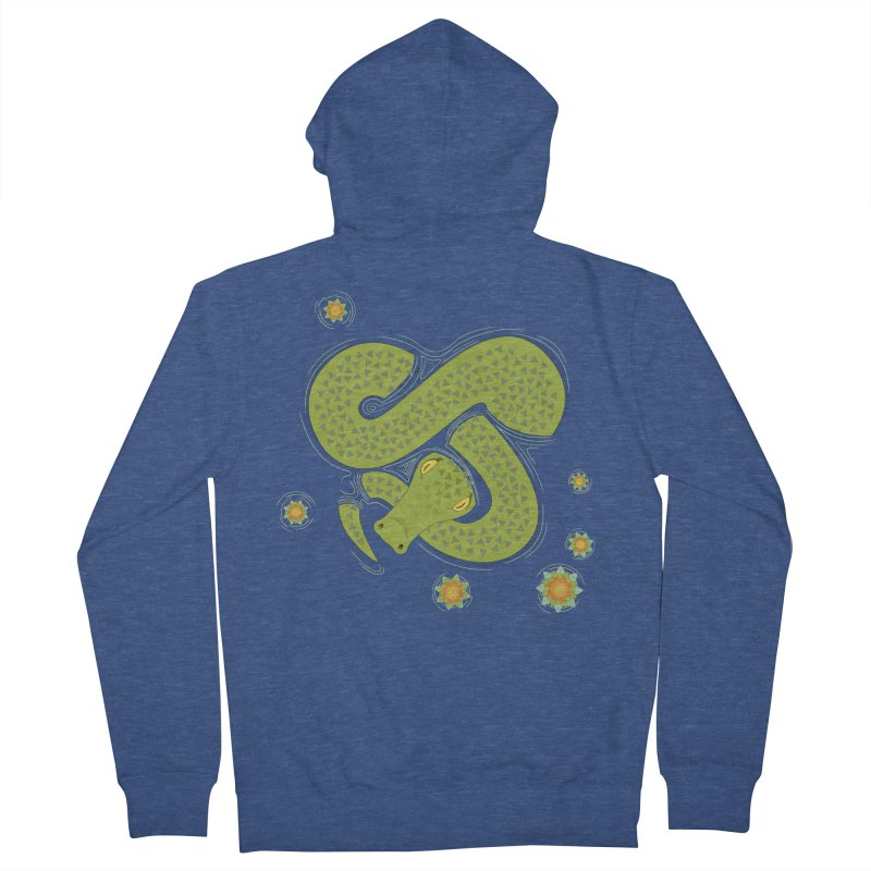 The Croc! Men's French Terry Zip-Up Hoody by cumulo7's Artist Shop