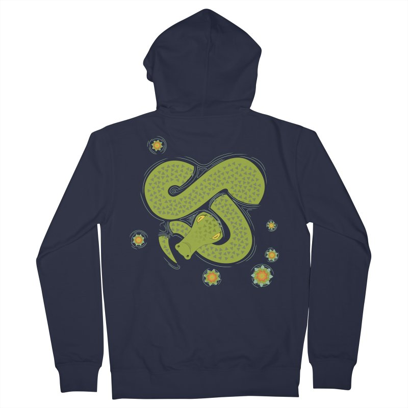 The Croc! Men's French Terry Zip-Up Hoody by Cumulo 7