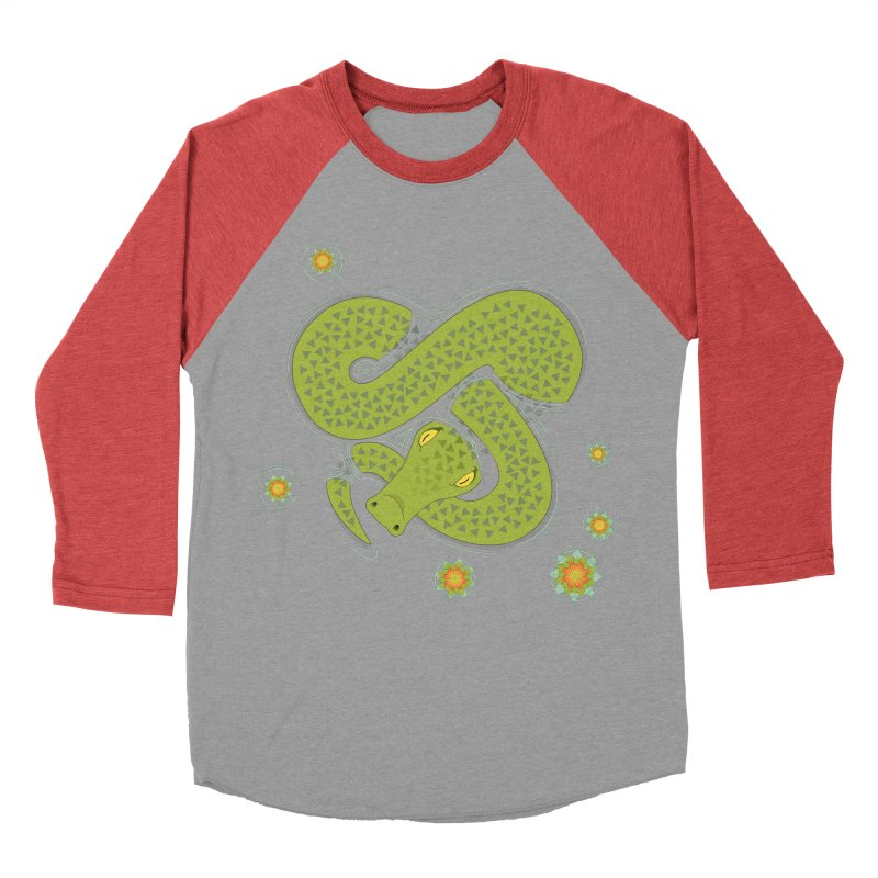 The Croc! Women's Baseball Triblend Longsleeve T-Shirt by Cumulo 7