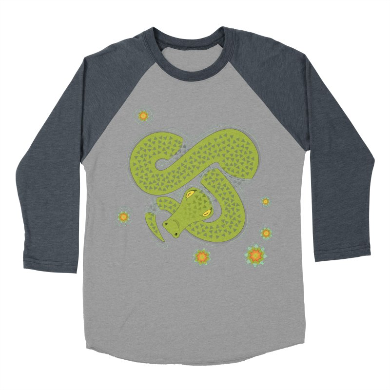 The Croc! Women's Baseball Triblend Longsleeve T-Shirt by Cumulo 7