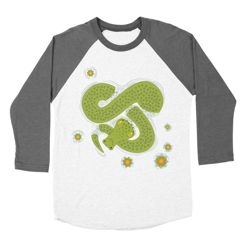 The Croc! Men's Baseball Triblend Longsleeve T-Shirt by cumulo7's Artist Shop