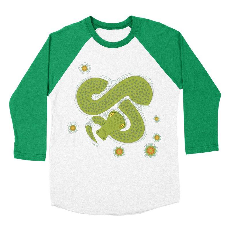 The Croc! Men's Baseball Triblend T-Shirt by cumulo7's Artist Shop
