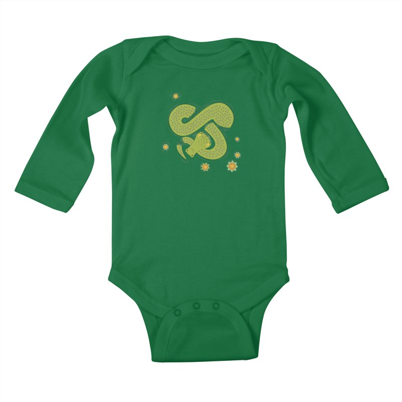 The Croc! Kids Baby Longsleeve Bodysuit by cumulo7's Artist Shop