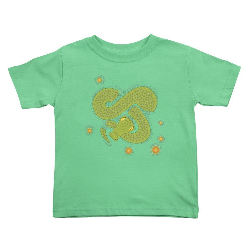 The Croc! Kids Toddler T-Shirt by cumulo7's Artist Shop