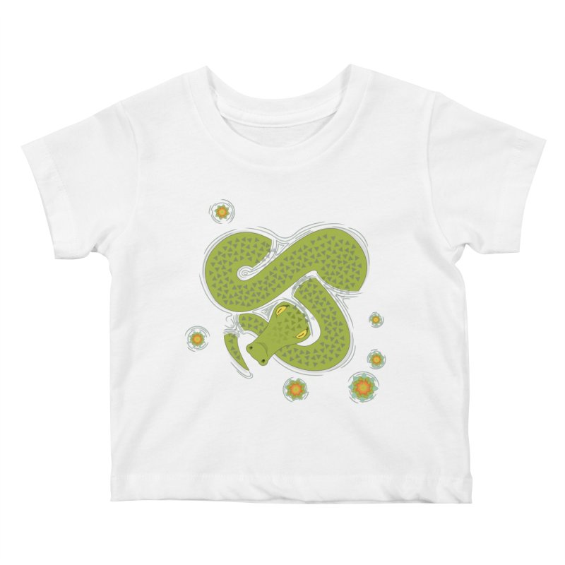 The Croc! Kids Baby T-Shirt by cumulo7's Artist Shop