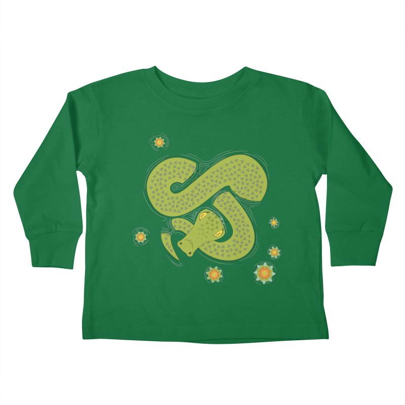 The Croc! Kids Toddler Longsleeve T-Shirt by cumulo7's Artist Shop