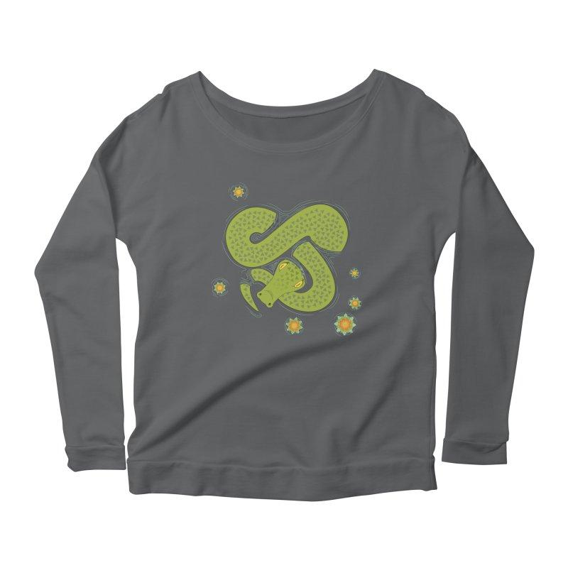 The Croc! Women's Scoop Neck Longsleeve T-Shirt by cumulo7's Artist Shop
