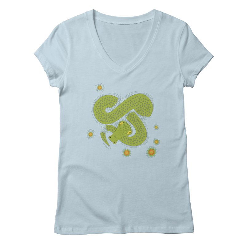 The Croc! Women's V-Neck by Cumulo 7