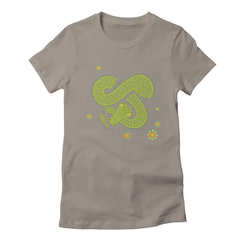 The Croc! Women's Fitted T-Shirt by cumulo7's Artist Shop