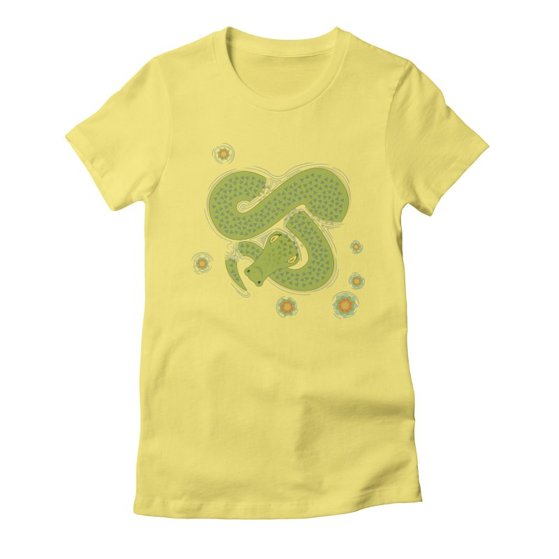 The Croc! Women's Fitted T-Shirt by Cumulo 7