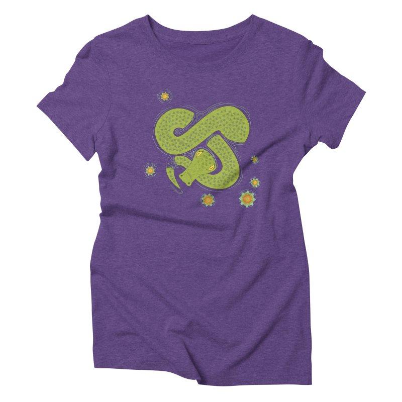 The Croc! Women's Triblend T-Shirt by cumulo7's Artist Shop