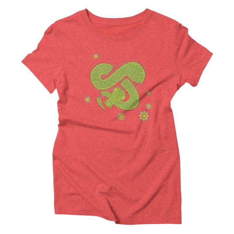 The Croc! Women's Triblend T-Shirt by Cumulo 7