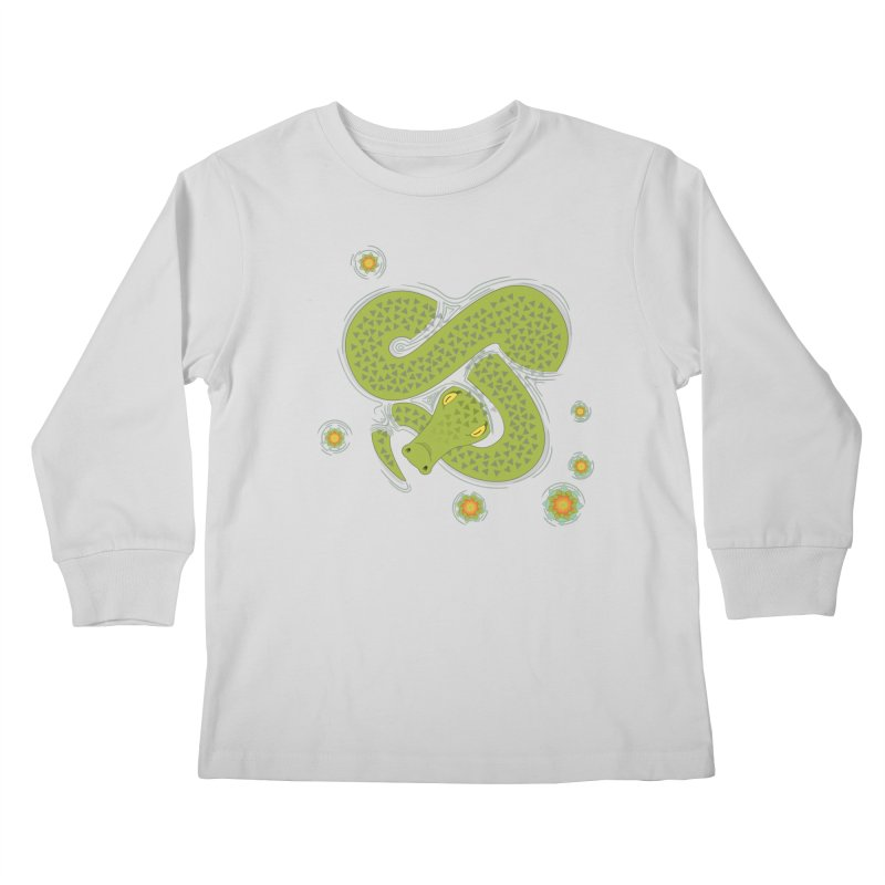 The Croc! Kids Longsleeve T-Shirt by cumulo7's Artist Shop