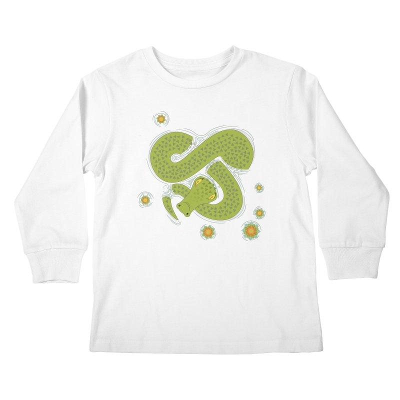 The Croc! Kids Longsleeve T-Shirt by Cumulo 7