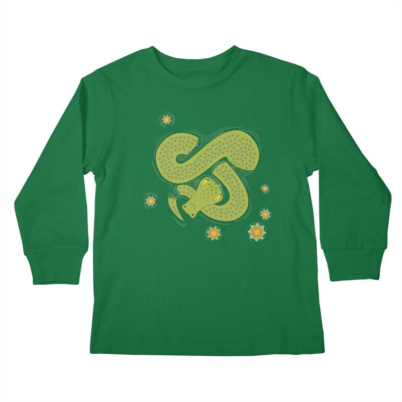 The Croc! Kids Longsleeve T-Shirt by cumulo7's Artist Shop
