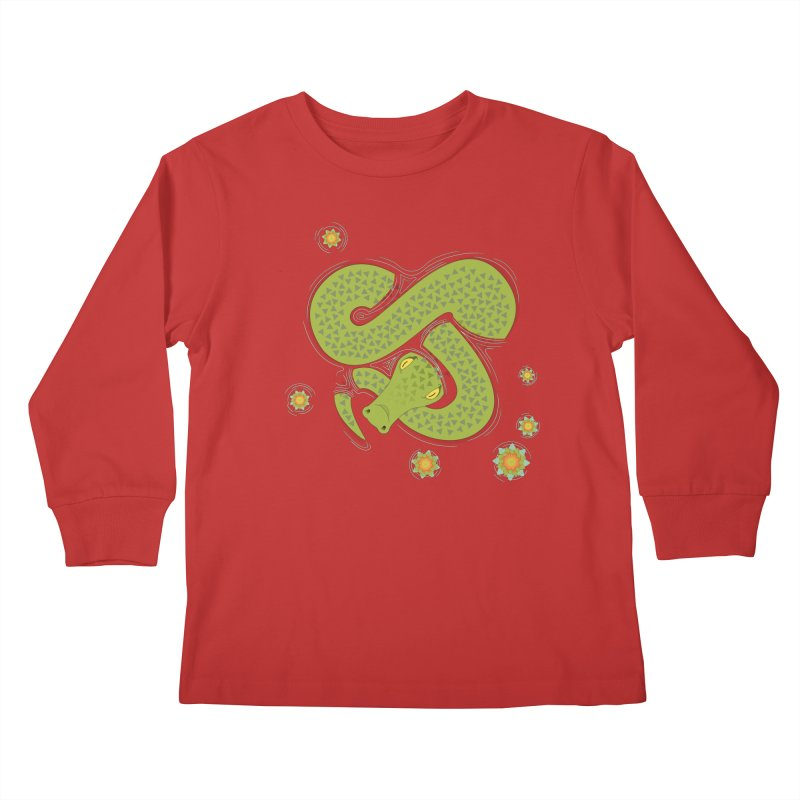 The Croc! Kids Longsleeve T-Shirt by Cumulo 7