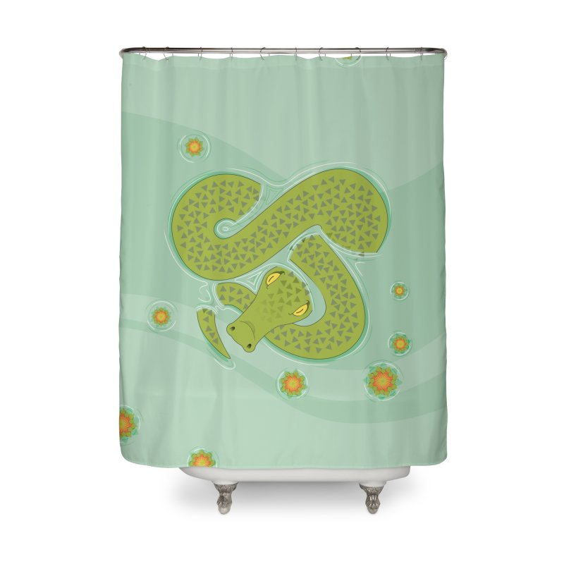 The Croc! Home Shower Curtain by Cumulo 7