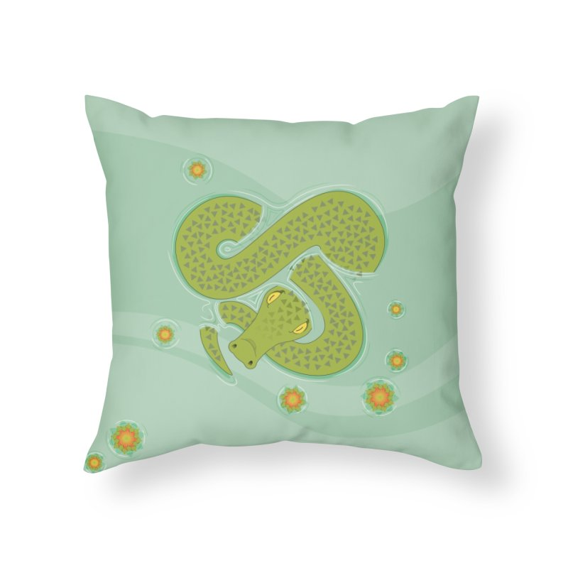 The Croc! Home Throw Pillow by cumulo7's Artist Shop