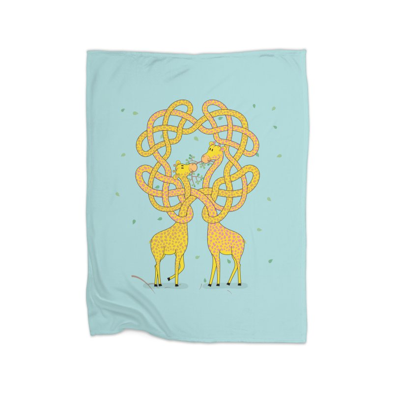 When Giraffes Fight Home Blanket by cumulo7's Artist Shop