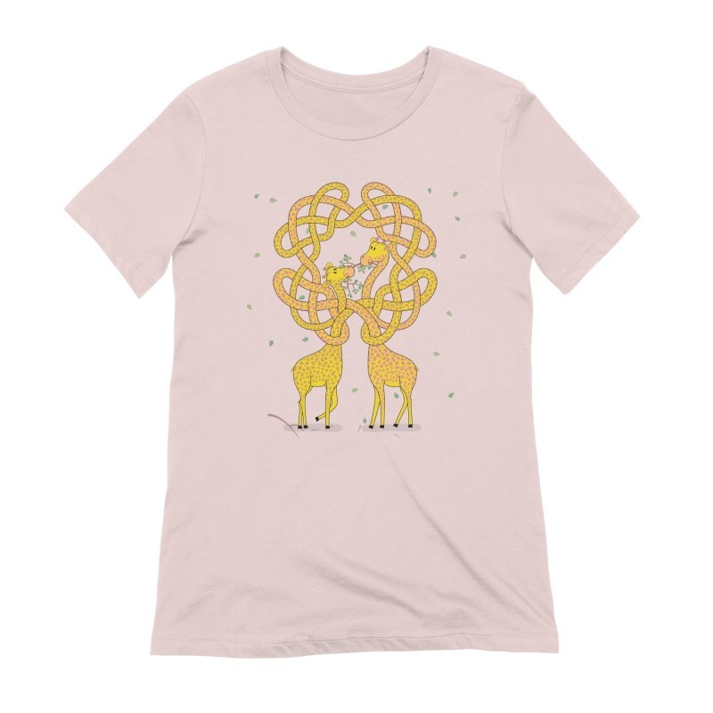 When Giraffes Fight Women's Extra Soft T-Shirt by Cumulo 7