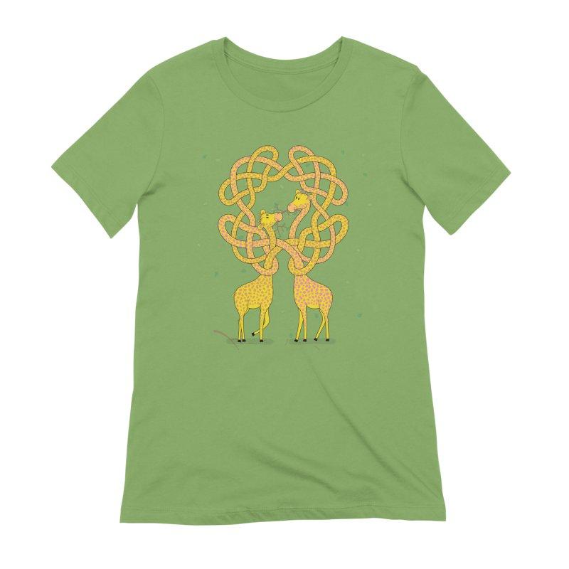 When Giraffes Fight Women's Extra Soft T-Shirt by Cumulo 7