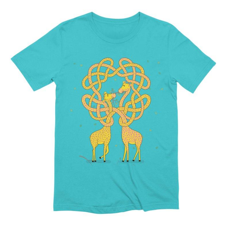 When Giraffes Fight Men's Extra Soft T-Shirt by Cumulo 7