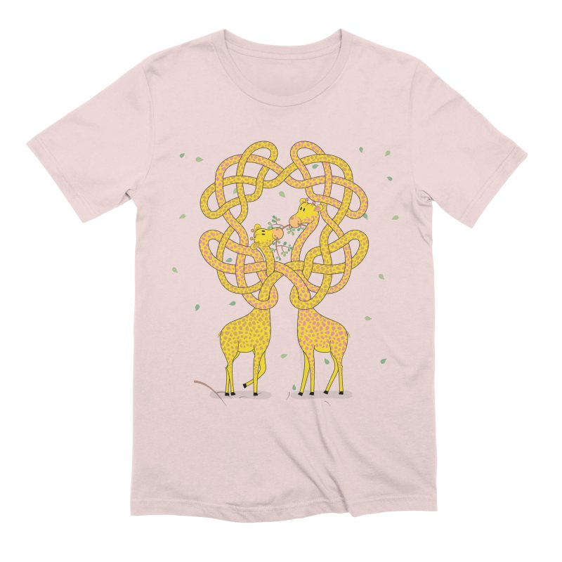 When Giraffes Fight Men's Extra Soft T-Shirt by Cumulo 7