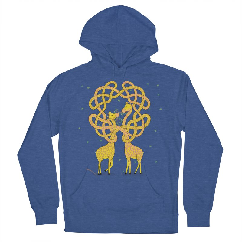 When Giraffes Fight Women's French Terry Pullover Hoody by cumulo7's Artist Shop