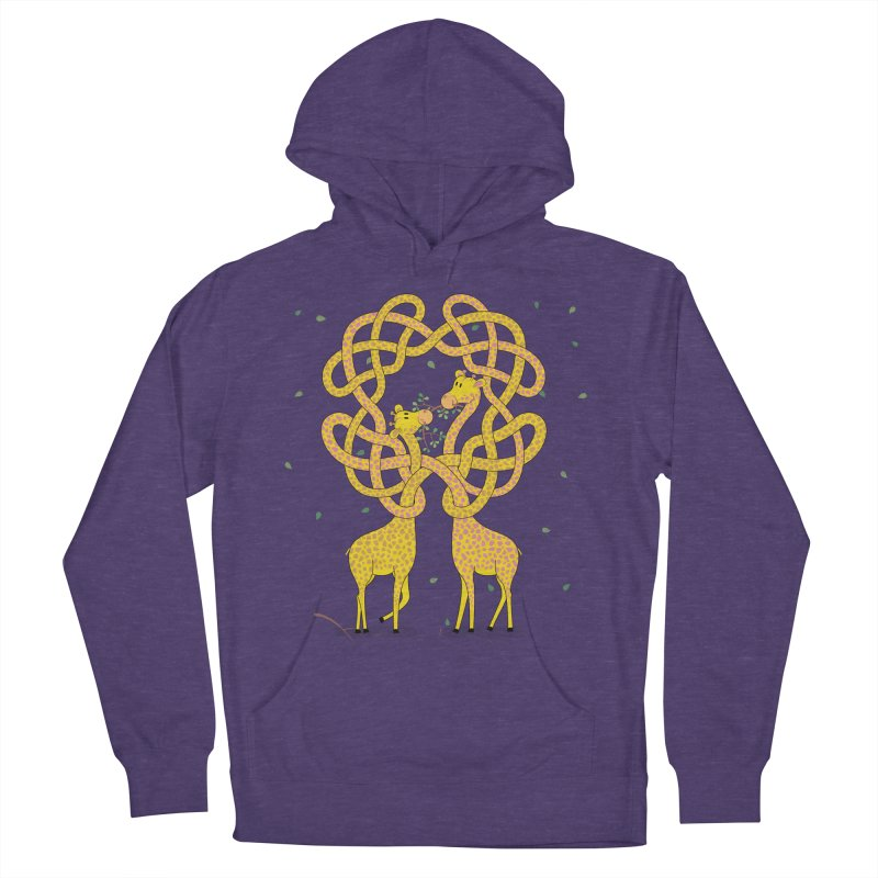 When Giraffes Fight Women's French Terry Pullover Hoody by Cumulo 7