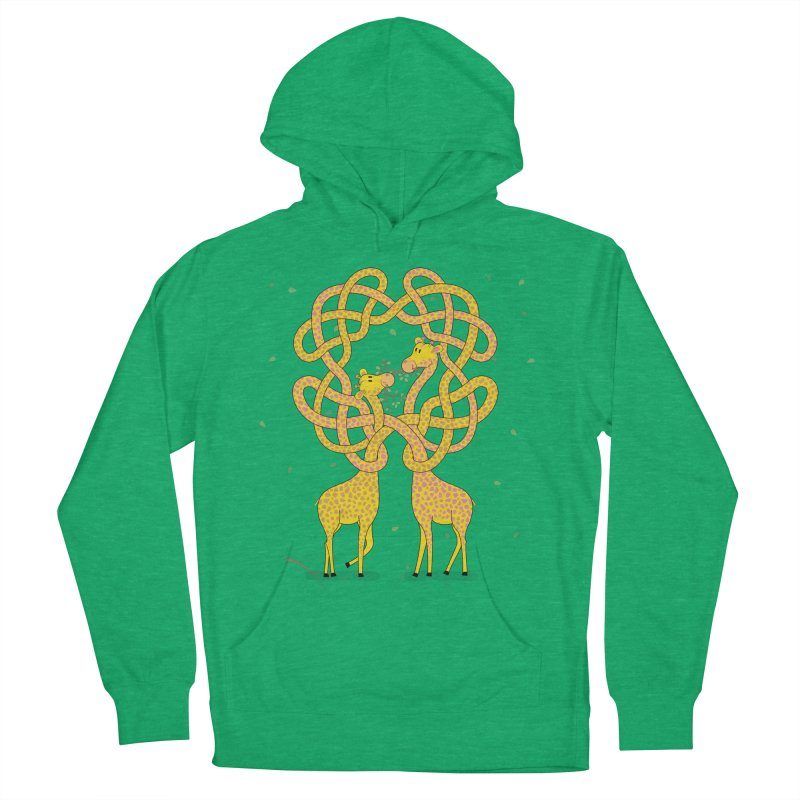 When Giraffes Fight Men's French Terry Pullover Hoody by Cumulo 7