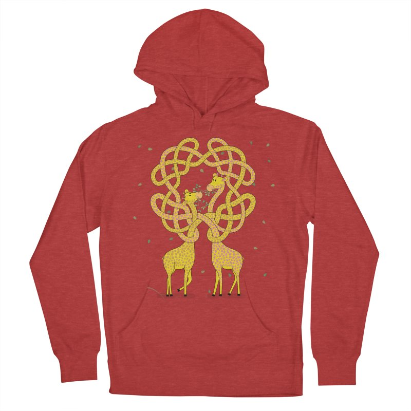 When Giraffes Fight Men's French Terry Pullover Hoody by cumulo7's Artist Shop